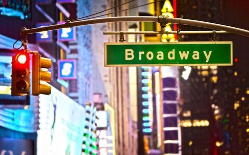 Cartel de Broadway en Nueva York