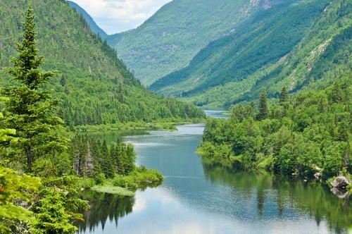 Río Malbaie en Canadá