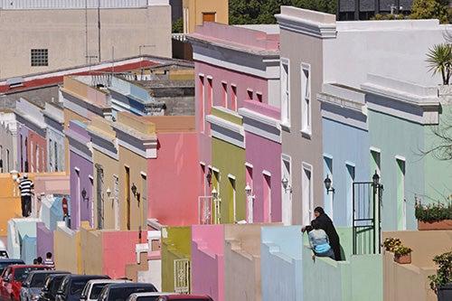 Casas de colores en Bo Kaap Ciudad del Cabo