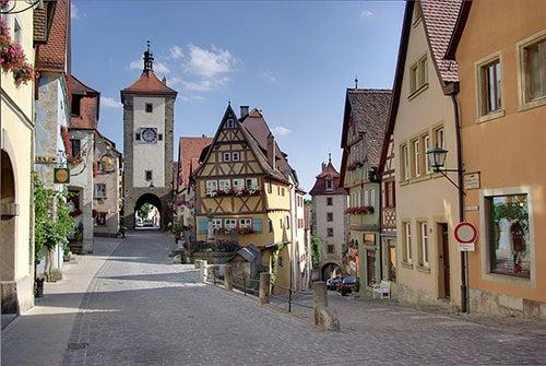 Calles de Rothenburg en Alemania