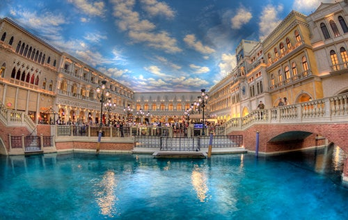 Canales en The Venetian Hotel