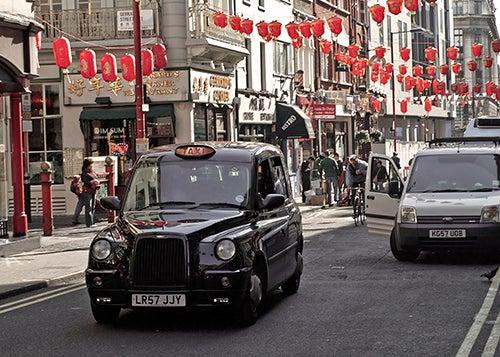 Calles de Chionatown en Londres
