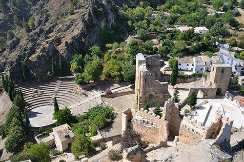 Vista aérea del castillo de Iruela