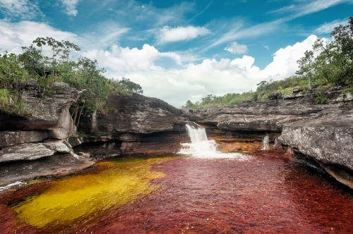 Cascada en Caño Cristales