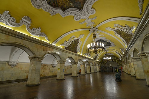 Estación de Komsomolskaya en Moscú