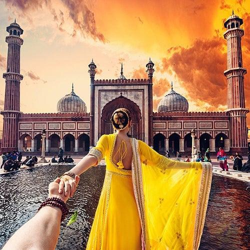 Novia india fotografia de Murad Osmann