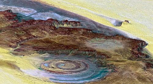 Perspectiva del Ojo del Sahara