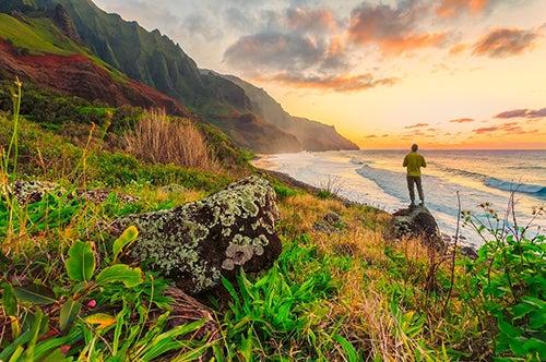 Turista en Hawaii
