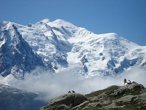 Aiguille-du Midi en los Alpes