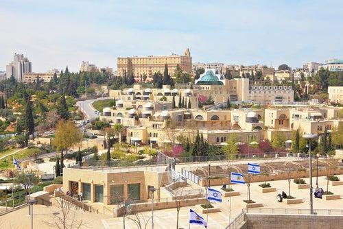 Vista de Jerusalem moderno