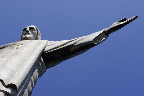 Detalle de la estatua del Cristo Redentor