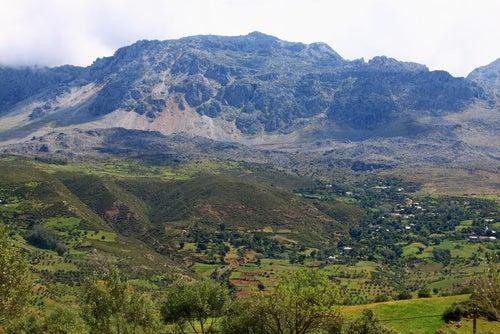 Montañas del Rif cerca deChefchaouen