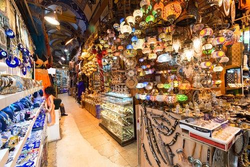 Calle del Gran Bazar de Estambul