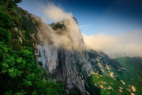 Conoce el impresionante Monte Hua en China