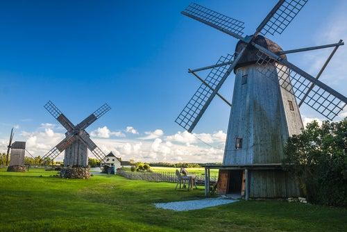 Molinos de Angla en Saaremaa