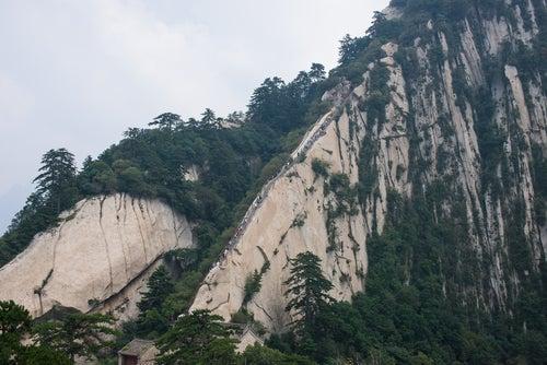 Sendero en el monte Hua