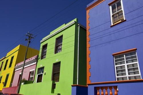 Casas de colores en Bo Kaap