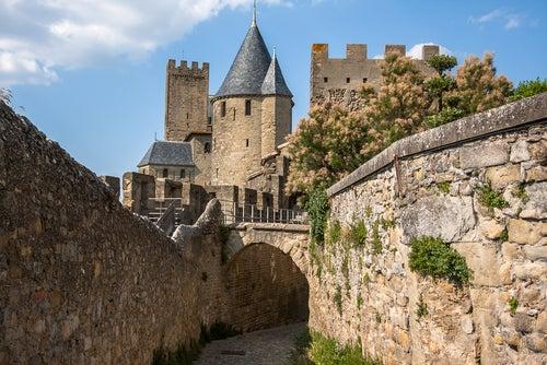Calles medievales en Carcassone