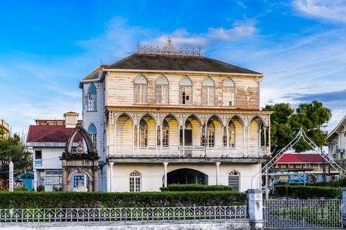 Vista de Georgetown en Guyana