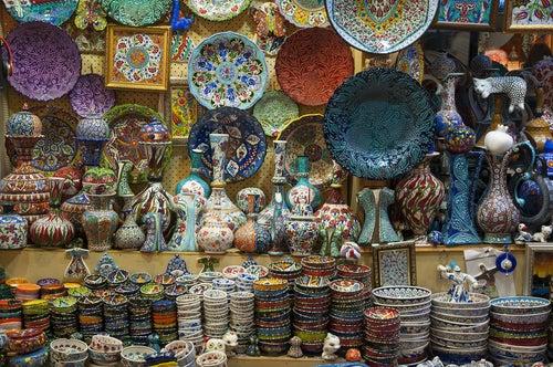 Cerámica típica en el Gran Bazar de Estambul