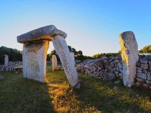 Megalitos en la bella Menorca