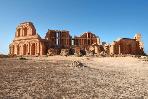 Teatro romano en Libia