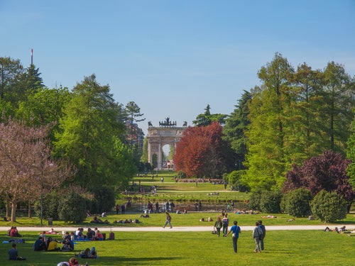 Parco Sempione en Milán