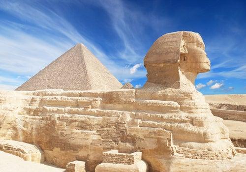 Vista de las Pirámides de Gizah