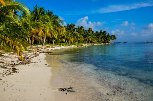 Playa en las Islas San Blas