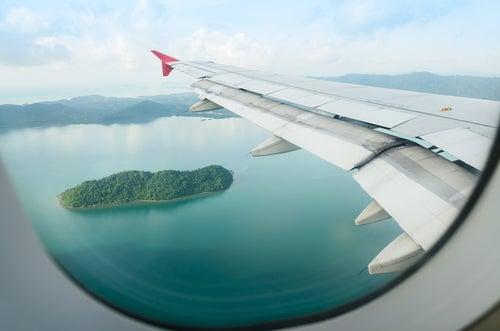 Vista desde la ventanilla del avión