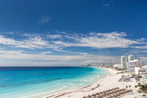Playas de Cancún, entre los países más visitados.