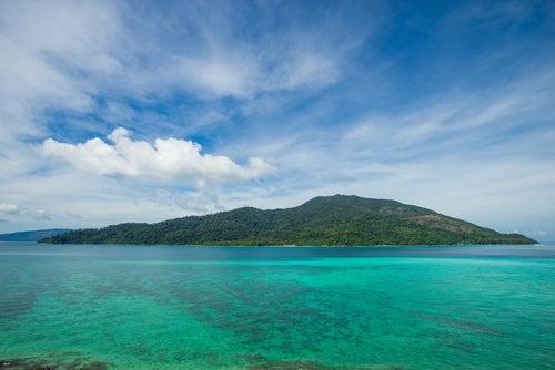 Vista de Andaman Sea en Tailandia