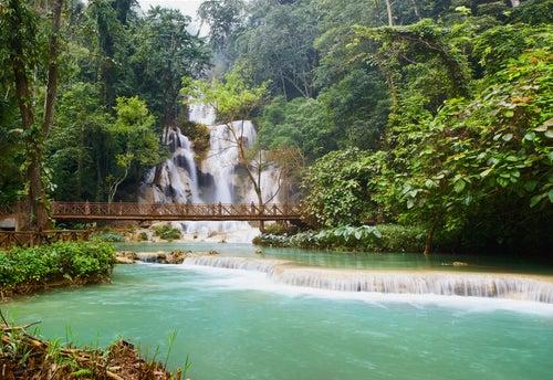 Cascadas Kuang Si en Laos