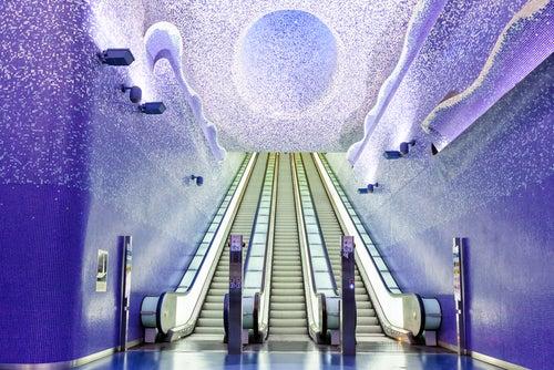 Estación de metro de Nápoles