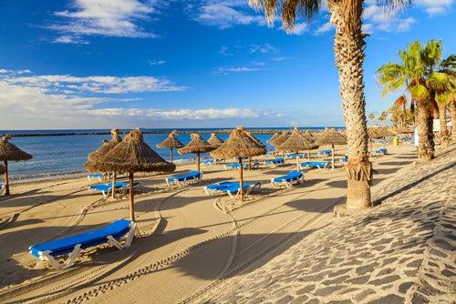 Playa de los Cristianos en Tenerife