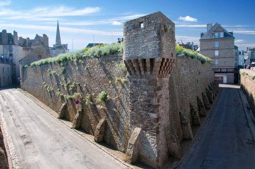 Fortaleza en Saint Malo en Bretaña