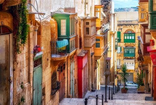 Calle de La Valletta en Malta