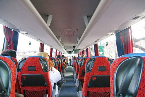 Interior de un autobus