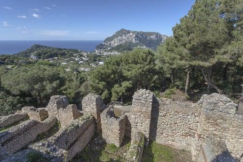 Ruinas de Villa Jovis en Capri
