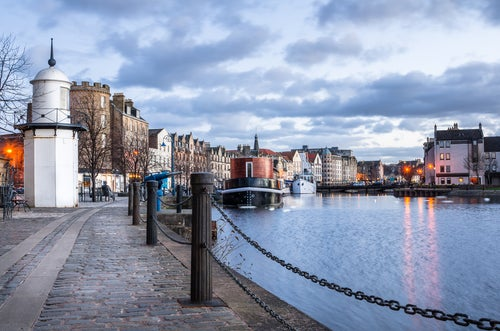 LEith Harbour en Edimburgo