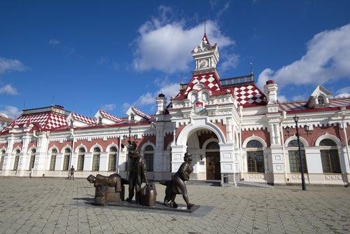 Estación de Ekaterimburg del Trnsiberianoo