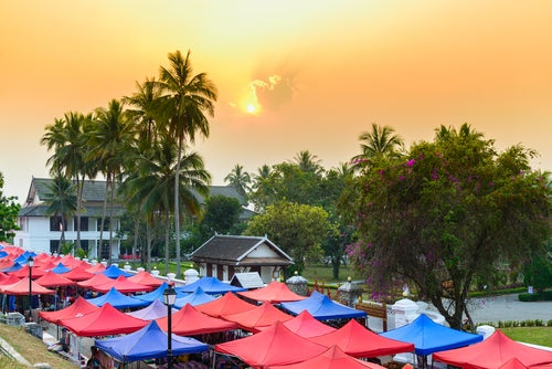 Mercadillo en Luang Prabang