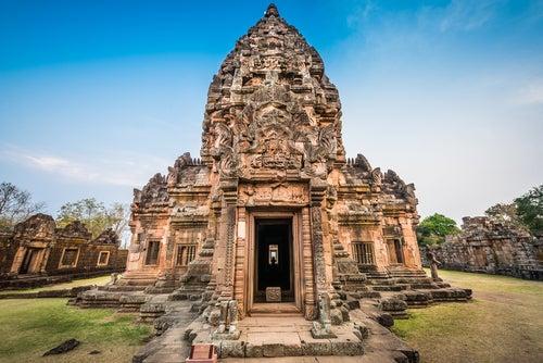 emplo en Phanom Rung en Tailandia
