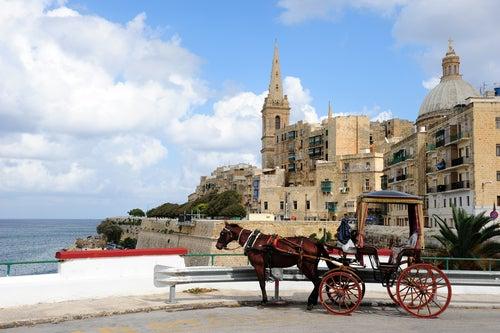 Vista de la Valeta en Malta