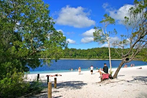 Lago MacKenzie en Isla Fraser