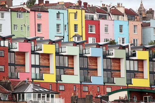 Casas de colores en Bristol