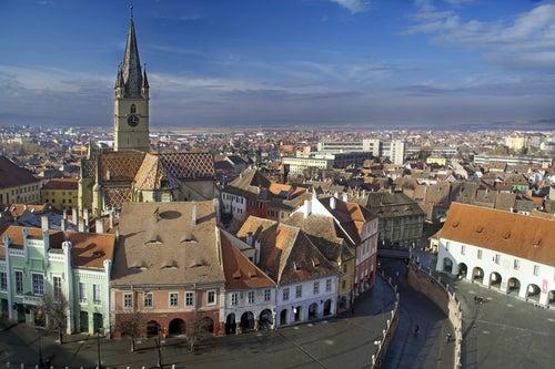 Vista de Sibiu en Transilvania