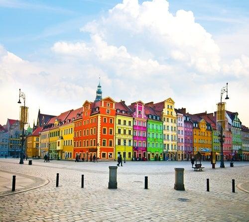 Casas de colores en Wroclaw