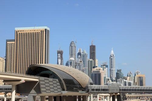 Estaciónd e metro en Dubai