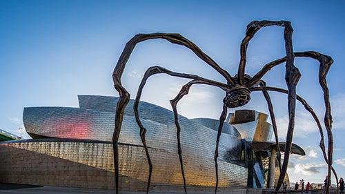Escultura de araña en el Guggenheim